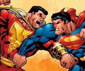 Капитан Марвел получил от Супермена на странице сценария «Шазама»