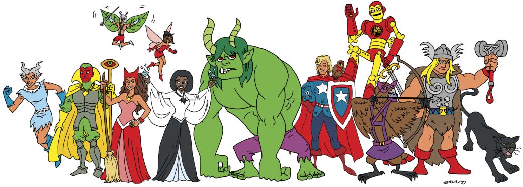 Галерея вариаций: Мстители-женщины, Мстители-дети... - Изображение 38
