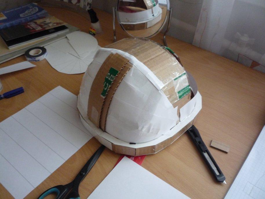 Хоккейный шлем из картона своими руками 9