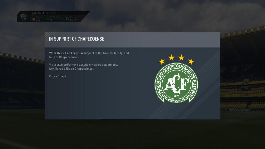 EA дарит игрокам FIFA 17 комплект формы Chapecoense - Изображение 1