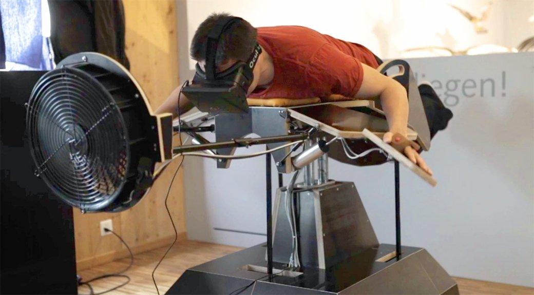 В Швейцарии сконструировали симулятор птицы для Oculus Rift  - Изображение 1