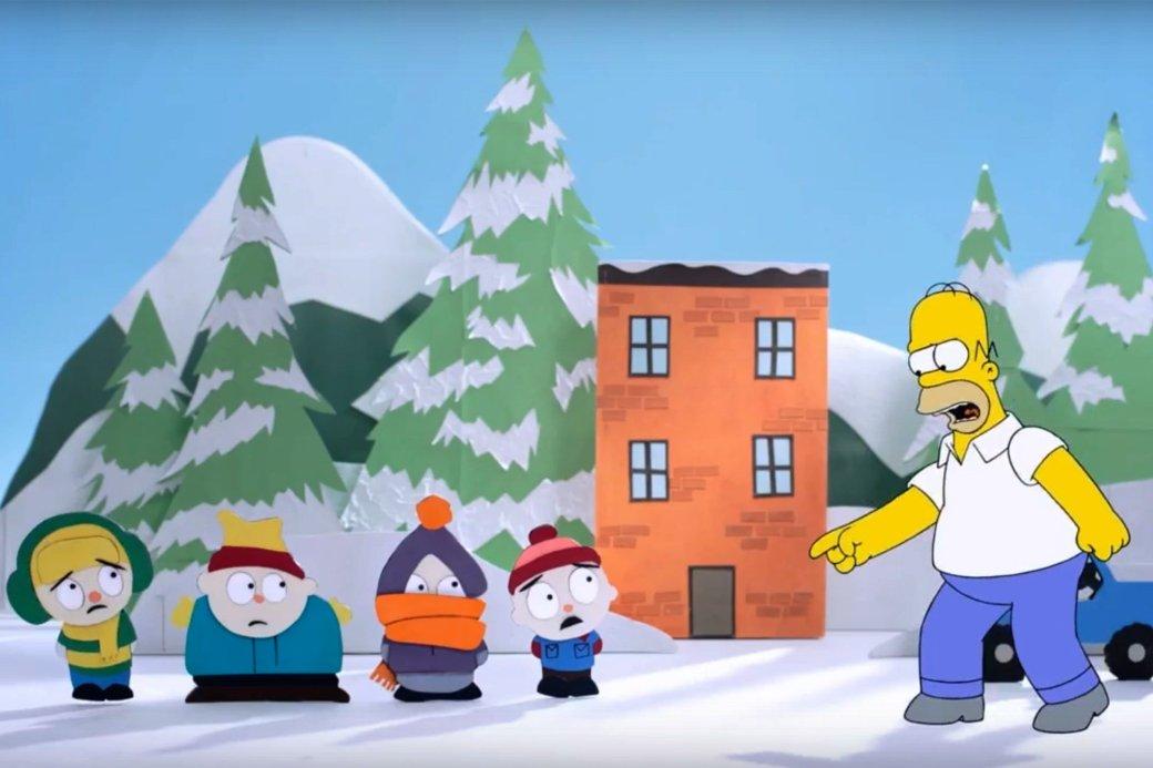 Гомер Симпсон встретился с героями South Park и «Робоцыпа» - Изображение 1