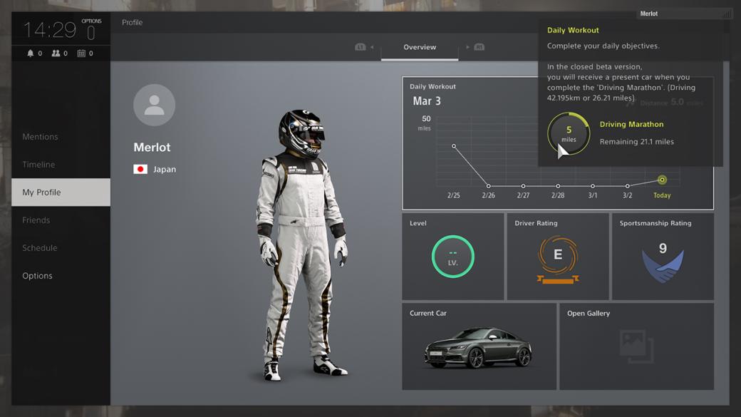 Создатели Gran Turismo Sport предлагают игрокам записаться наЗБТ