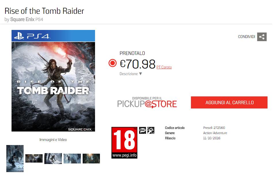 Слух: Rise of the Tomb Raider выйдет на PS4 в октябре - Изображение 2