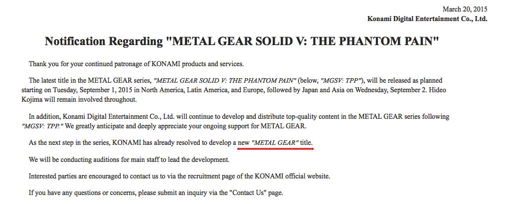Show must go on: Konami будет выпускать новые Metal Gear без Кодзимы - Изображение 2