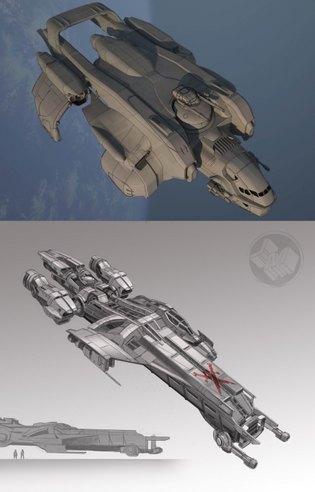 Star Citizen / Squadron 42. Корабли M50, Caterpillar, Starfarer - Изображение 1