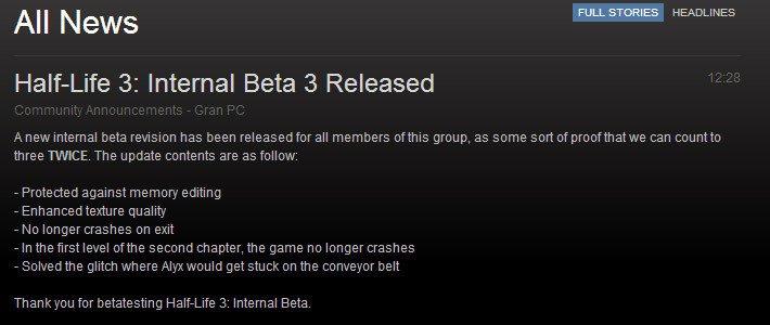 Разработчик подколол пользователей Steam бета-версией Half-Life 3 - Изображение 1