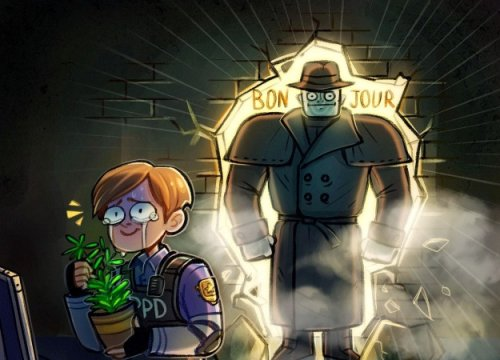 Гифка дня: маленькие радости Мистера Икс вResident Evil2