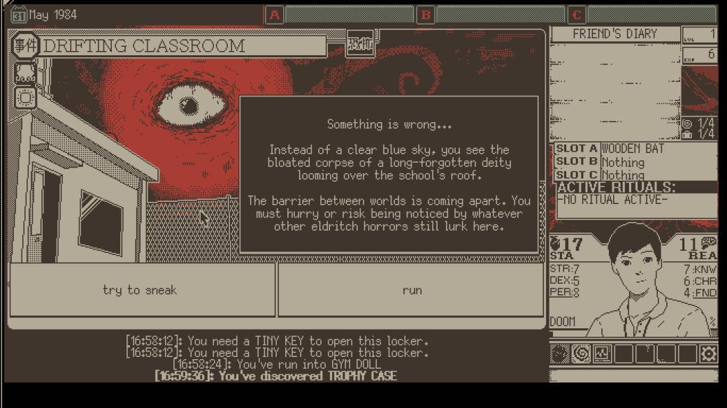 Обзор World ofHorror (2020) из Steam, рецензия, мнение, отсылки к Дзюндзи Ито и Лавкрафту   Канобу - Изображение 8078