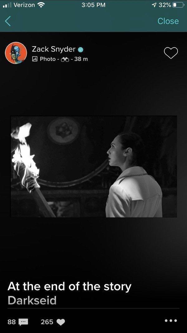 Чудо-женщина узнает про Дарксайда на кадре из режиссерской версии «Лиги справедливости»
