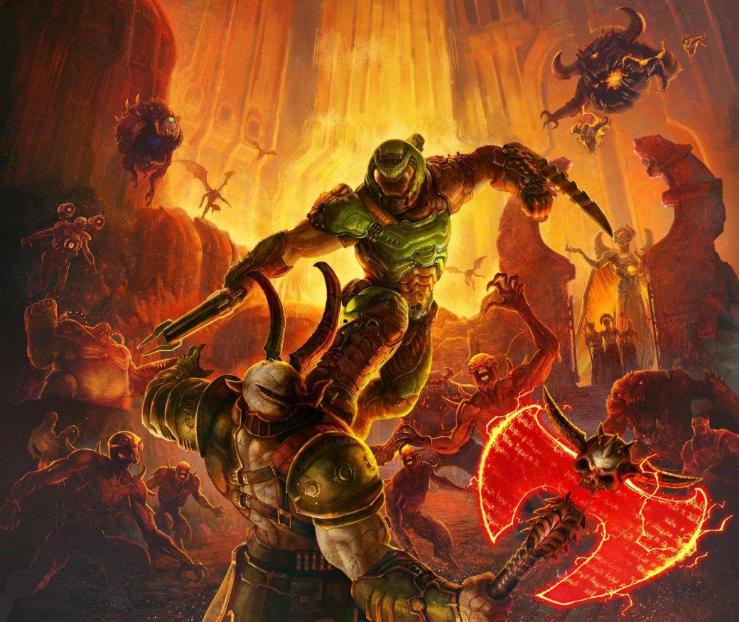 Создатели Doom Eternal показали несколько постеров и пачку скриншотов игры | Канобу - Изображение 2