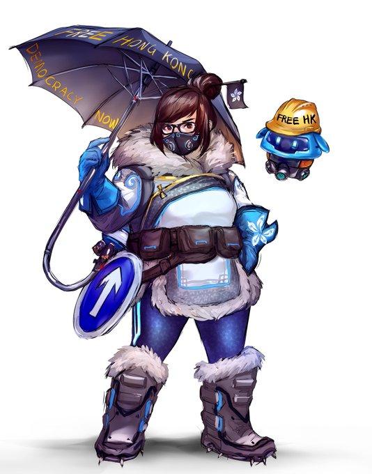 Игроки в ответ на политику Blizzard решили сделать Мэй из Overwatch символом протестов в Гонконге | Канобу - Изображение 9