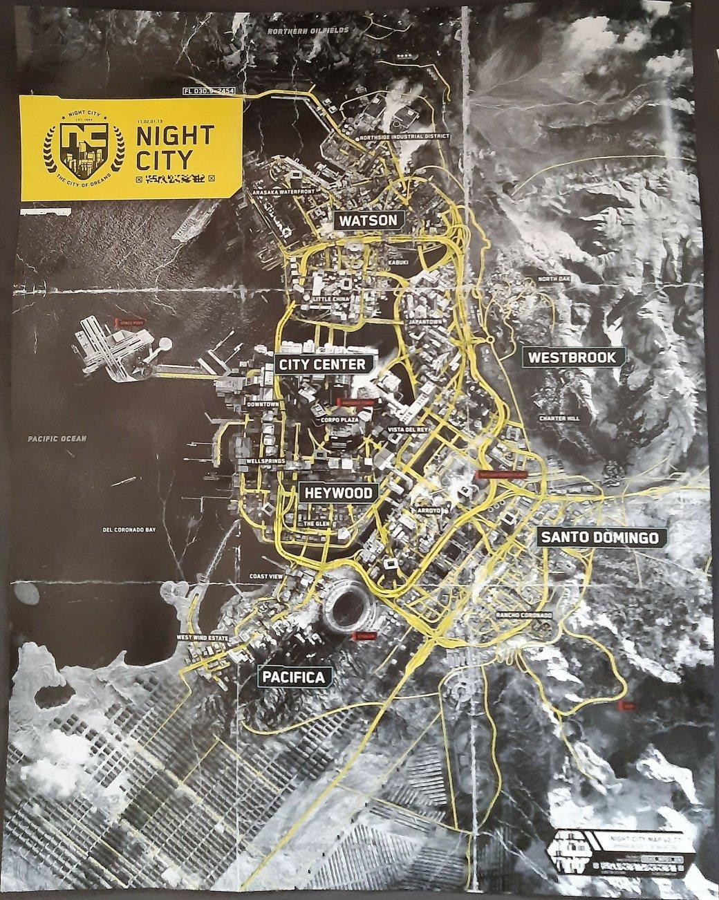 Материалы коллекционного издания Cyberpunk 2077 попали в сеть. В том числе карта Найт-Сити | Канобу - Изображение 6705
