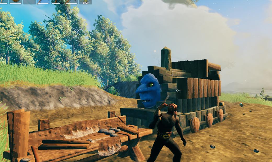 Игрок Valheim построил ужасающую версию паровозика Томаса
