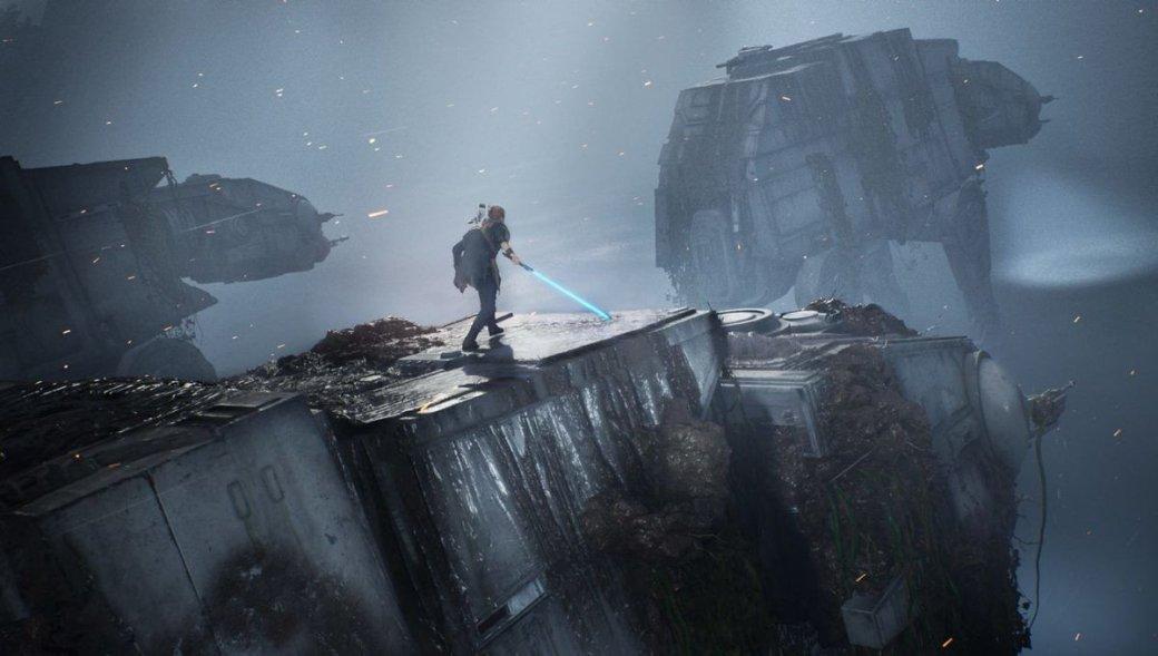EAподелилась расширенным геймплеем Star Wars Jedi: Fallen Order. Внем герой угоняет шагоход | Канобу - Изображение 1