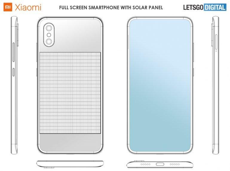 Xiaomi запатентовала смартфон ссолнечной батареей, без рамок исподэкранной фронтальной камерой | SE7EN.ws - Изображение 1