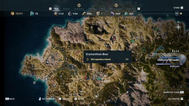 Гайд поAssassin's Creed: Odyssey. Где найти икак убить всех легендарных животных | Канобу - Изображение 7