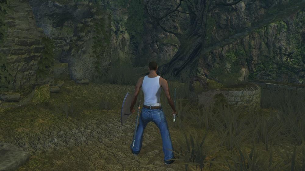 Восславьте Гроув-стрит! Энтузиаст добавил Си-Джея из San Andreas в Dark Souls   Канобу - Изображение 2144