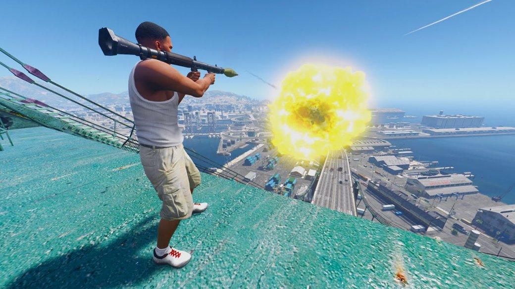 Гифка дня: занимательный полет ракеты вGrand Theft Auto5 | Канобу - Изображение 0